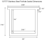 SailboatStuff Replacement Gasket for Stainless Steel Rectangular Portholes