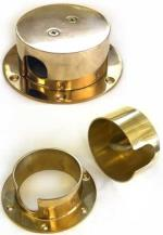 SailboatStuff Brass & Chrome Round Rope Deck Pipe