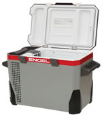 MR040F-U1 Top Open AC/DC Fridge-Freezer by Engel - Side Open View