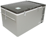Front View of MT60 Portable Top-Opening 12/24V DC 120V AC Fridge-Freezer by Engel