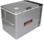 Front View of MT80 Portable Top-Opening 12/24V DC 120V AC Fridge-Freezer by Engel