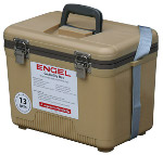Air Tight Tan Color Cooler/Dry Box By Engel