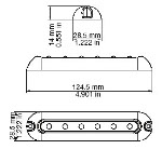 Resolux 551 Surface Mount LED Light Diagram by Imtra Marine Lighting