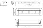 Resolux 801 Surface Mount Linear LED Light Diagram by Imtra Marine Lighting