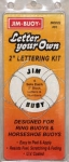 Jim Buoy Letter Your Own 2-inch Lettering Kit