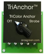 Orca Green Marine Selector Switch for Tri-Anchor Light