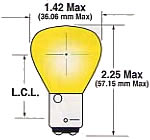 SailboatStuff RP11 Double Contact Bayonet Clear Light Bulb Illustration