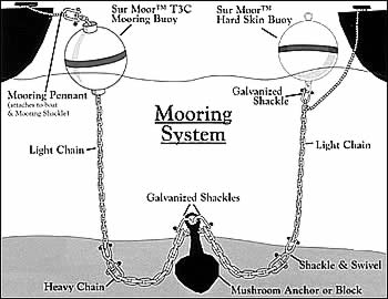 Taylor Made Products Sur-Moor Mooring System Illustration