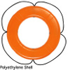 Taylor Made Products Orange Life Ring Buoys with Black Rope