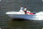 Bay Style V-Hull Center Console Outboard Trailerite Hot Shot Semi-Custom Boat Covers by Taylor Made Products