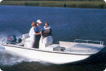 Square Bow Center Console Bay Boat Trailerite Hot Shot Semi-Custom Boat Covers by Taylor Made Products