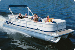 Taylor Made Products Pontoon Boat Full Deck Cover Trailerite Hot Shot Semi-Custom Boat Covers